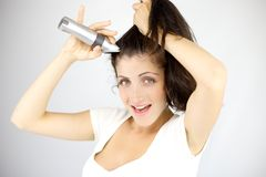 It will be funny to have a shaved head Royalty Free Stock Images