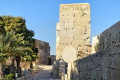 The castle of santa barbara royalty free stock image