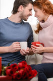 We will always be together. Attractive young loving couple sitti Stock Images