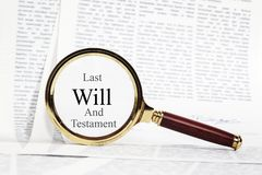 Will Concept with Magnifying Glass royalty free stock photos