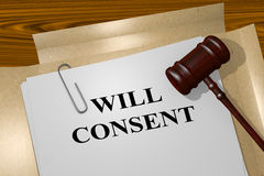 Will Consent - legal concept Stock Images