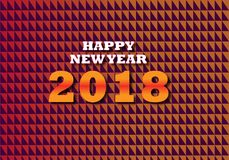 Happy New Year 2018 Design,Happy New year Banner,facbook banner,twitter Banner,. We will Design superb and unique Design for every One, background for client Royalty Free Stock Image