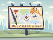 We will find you a home. Vector illustration Royalty Free Stock Photos