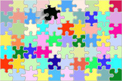 Will it fit in?. Colorful puzzle with one black piece royalty free illustration
