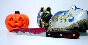 HORROR IN HALLOWEEN royalty free stock photography