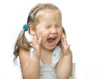 Will have will a scream!. A child is capricious and yells, labouring for it Royalty Free Stock Photo