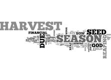 When Will I Reap My Financial Harvest Word Cloud. WHEN WILL I REAP MY FINANCIAL HARVEST TEXT WORD CLOUD CONCEPT Stock Photography