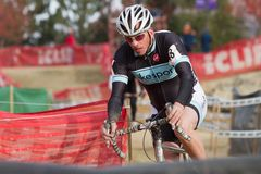 Will Kelly - Masters Cyclocross Racer Stock Photo