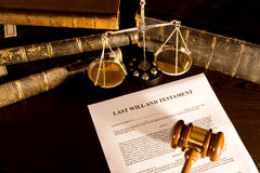 Will And Law Concept Royalty Free Stock Photography