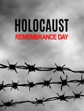 We Will Never Forget. Holocaust Remembrance Day. International Day of Fascist Concentration Camps and Ghetto Prisoners Liberation. Card. Wire with spikes on royalty free illustration