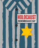 Holocaust Remembrance Day. We Will Never Forget. Yellow Star David. International Day of Fascist Concentration Camps and Ghetto Pr. We Will Never Forget royalty free illustration