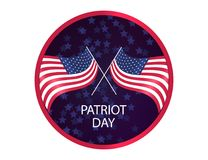 We Will Never Forget. Patriot Day background, American Flag on sparkling background. illustration for Patriot Day. We Will Never Forget. Patriot Day background Royalty Free Stock Photos