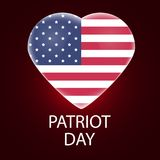 We Will Never Forget. Patriot Day background, American Flag on sparkling background. illustration for Patriot Day. We Will Never Forget. Patriot Day background Stock Photo