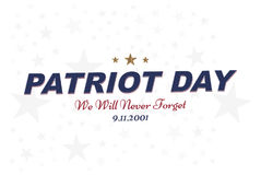 We will never forget. Patriot Day september 11. 2001 Typography on a white background. Vector font combination to the day of memor. Y of the American people Royalty Free Stock Photos