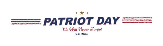 We will never forget. Patriot Day september 11. 2001 Typography on a white background. Vector font combination to the day of memor. Y of the American people Stock Images