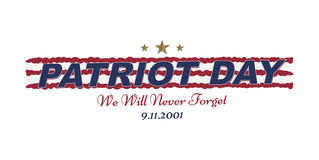 We will never forget. Patriot Day september 11. 2001 Typography on a white background. Vector font combination to the day of memor. Y of the American people Royalty Free Stock Image
