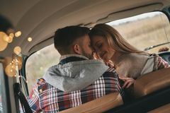 He will never let her go. royalty free stock images
