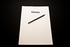 We will plan for you. Planning for business; white paper and a pencil Stock Images
