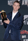 Will Poulter. At the 2014 MTV Movie Awards - Press Room held at the Nokia Theatre L.A. Live in Los Angeles on April 13, 2014 in Los Angeles, California Stock Image