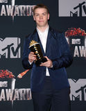 Will Poulter. At the 2014 MTV Movie Awards - Press Room held at the Nokia Theatre L.A. Live in Los Angeles on April 13, 2014 in Los Angeles, California Royalty Free Stock Photo