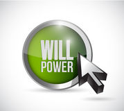 Will power button illustration design. Over a white background Stock Photography