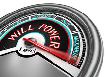 Will power conceptual meter indicate maximum Stock Photography