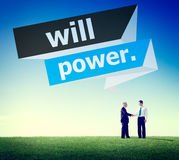 Will Power Control Endurance Strength Commitment Focus Concept Stock Photo
