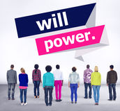 Will Power Control Endurance Strength Commitment Focus Concept Royalty Free Stock Photo