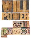 Will power in wood type Stock Photo
