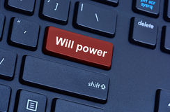 Will power words on computer keyboard Stock Photography