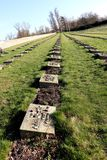 The cemetery Theresienstadt concentration camp royalty free stock photo