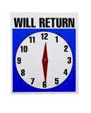 Will return retail sign Stock Photography