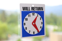 Will Return Sign Royalty Free Stock Image