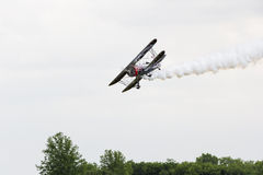 Will Rogers Air show in bi-plane Stock Images