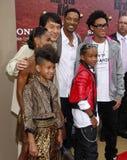 Will Smith, Jada Pinkett Smith, Willow Smith, Jackie Chan and Jaden Smith Stock Photos