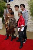 Will Smith, Jada Pinkett Smith, Willow Smith, Jackie Chan och Jaden Smith Royaltyfri Bild