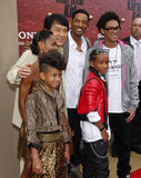 Will Smith, Jada Pinkett Smith, Willow Smith, Jackie Chan och Jaden Smith Arkivfoton