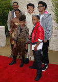Will Smith, Jada Pinkett Smith, Willow Smith, Jackie Chan och Jaden Smith Arkivbild