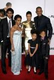 Will Smith, Jada Pinkett Smith, Willow Smith, Thandie Newton och Jaden Smith Royaltyfri Foto