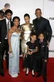 Will Smith, Jada Pinkett Smith, Willow Smith, Thandie Newton och Jaden Smith Royaltyfri Fotografi
