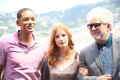 Will Smith, Jessica Chastain, Pedro Almodovar Fotografie Stock