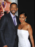 Will Smith u. Jada Pinkett Smith stockfotografie