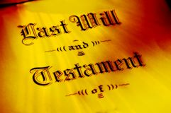 Will and Testament Stock Image