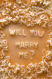 Will u marry me Stock Photo