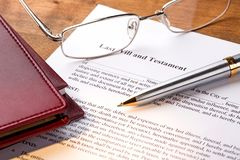 Will. Law legal system legal document document planning pen stock photo