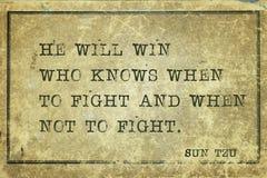 He will win Sun Tzu stock image