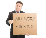Will Work for Food Royalty Free Stock Photo