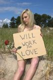 Will Work for Love, Relationships Concept Royalty Free Stock Photos
