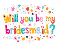 Will you be my bridesmaid Royalty Free Stock Image