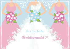 Will You Be My Bridesmaid Royalty Free Stock Images